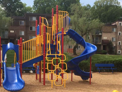 Playground at apartments in Glen Burnie, Maryland