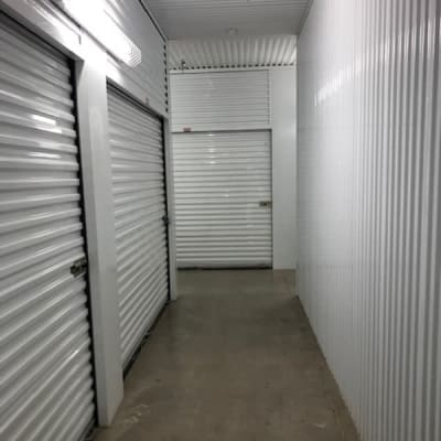Hall of indoor units at Storage Star Quail Creek in Laredo, Texas