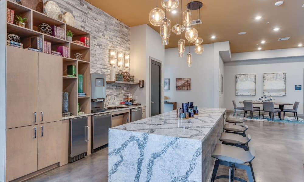 Large clubhouse for residents and friends to enjoy at Bellrock Upper North in Haltom City, Texas