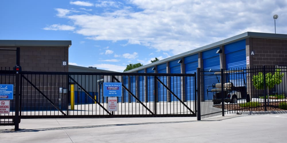 The front gate at STOR-N-LOCK Self Storage in Colorado Springs, Colorado