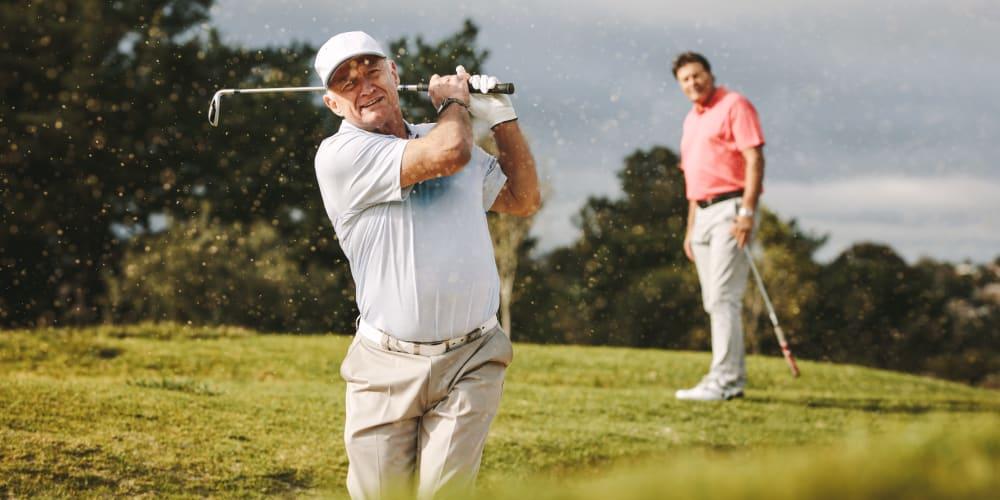 Residents out golfing near The Springs at Lake Oswego in Lake Oswego, Oregon