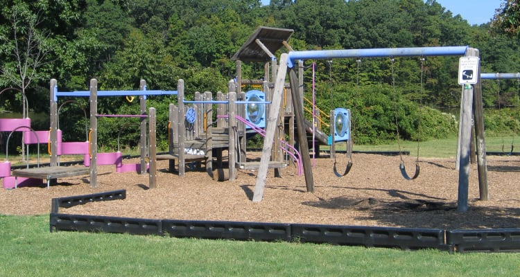 A playground that is great for entertaining at Harbor Point Estates in Essex, MD