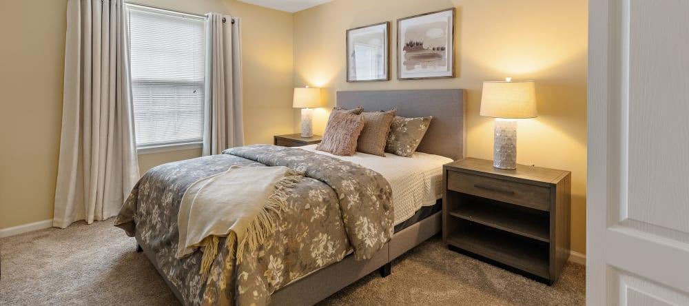 Cozy senior apartment bedroom in Novi, MI