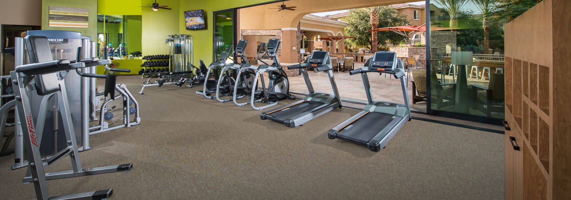 Fitness center at Stone Oaks in Chandler, Arizona