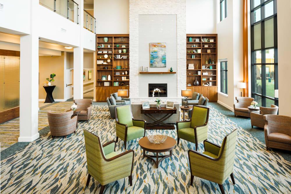 Comfy lounge at Anthology of Mason in Mason, Ohio