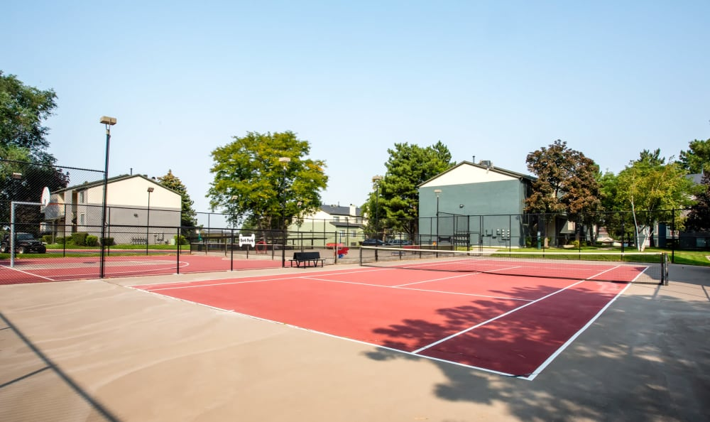 Living at Royal Farms Apartments includes tennis