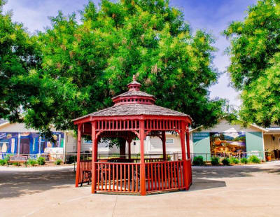 Beautiful gazebo at Pacifica Senior Living Vacaville in Vacaville, California