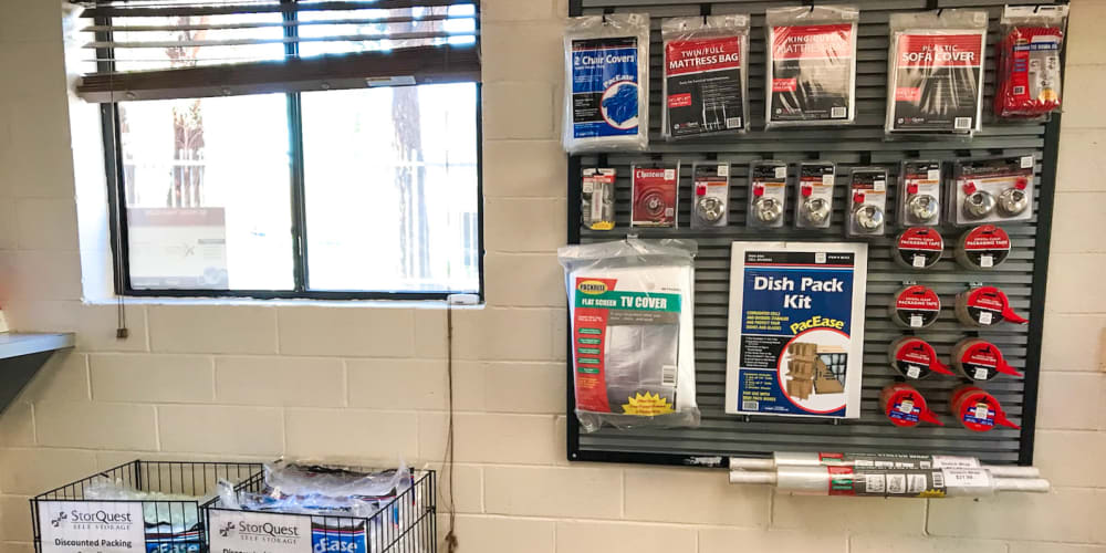 Packing supplies available at StorQuest Self Storage in Westlake Village, California