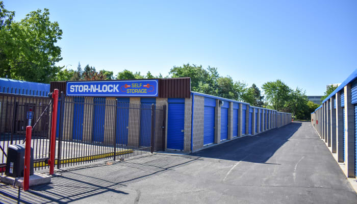 A row of storage units at STOR-N-LOCK Self Storage in Boise, Idaho