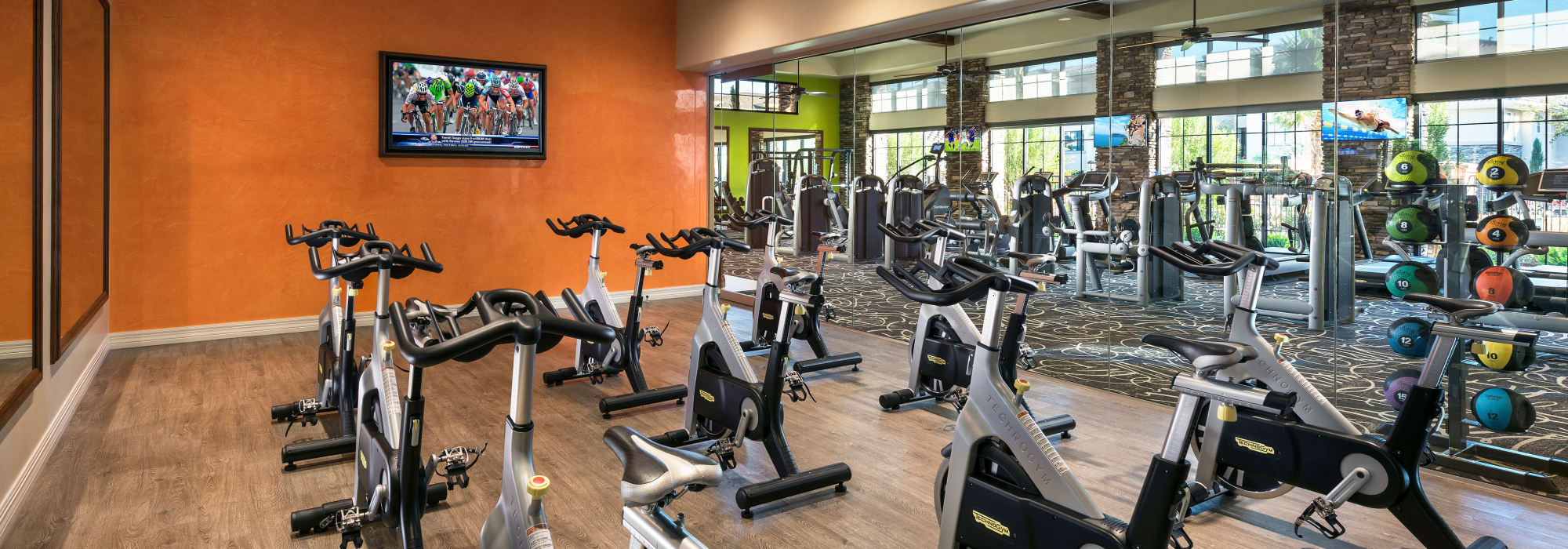 Fitness center at San Travesia in Scottsdale, Arizona
