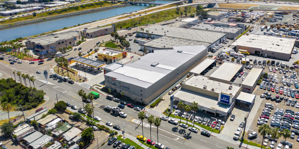 An aerial view of a A-1 Self Storage facility offering student storage