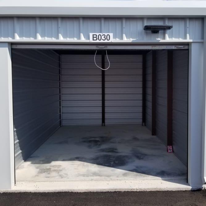 Interior of 10x15 storage unit