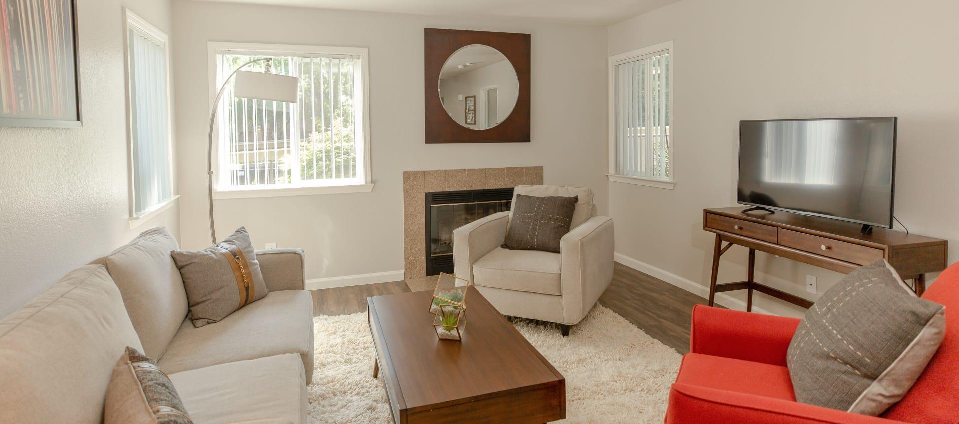 Living room at Shaliko in Rocklin, California.