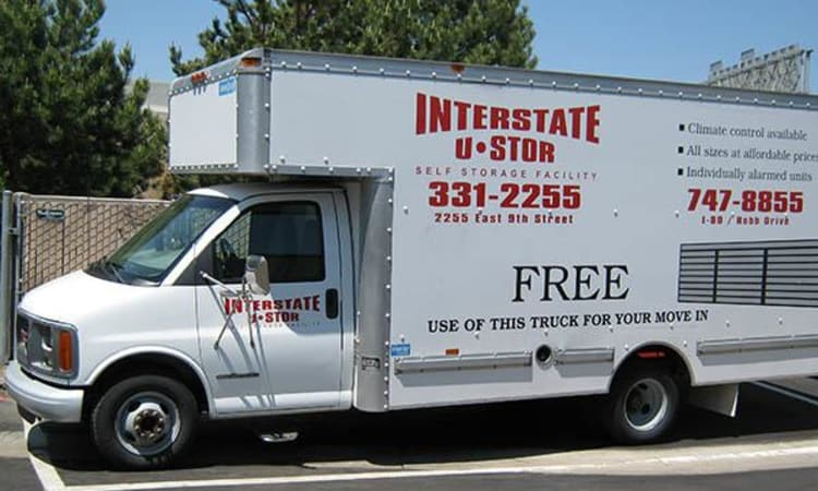 Interstate U-Stor provides a moving truck to transport your belongings