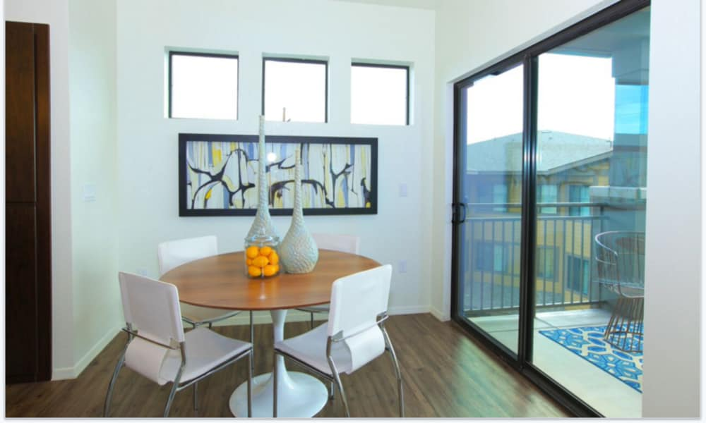 Dining area at Elevation Apartments
