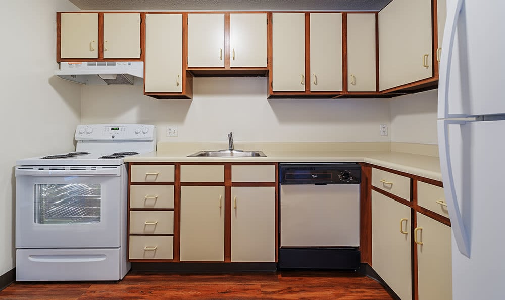 Luxury kitchen at apartments in Pittsburgh, Pennsylvania