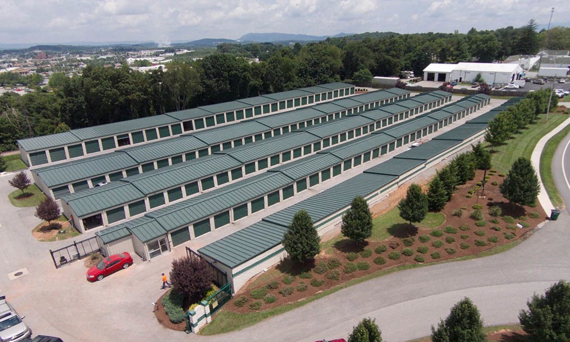 An aerial view of Virginia Varsity Storage in Christiansburg, Virginia