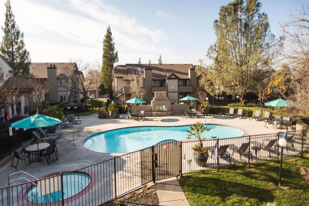 Resident pool at Shaliko in Rocklin, California.