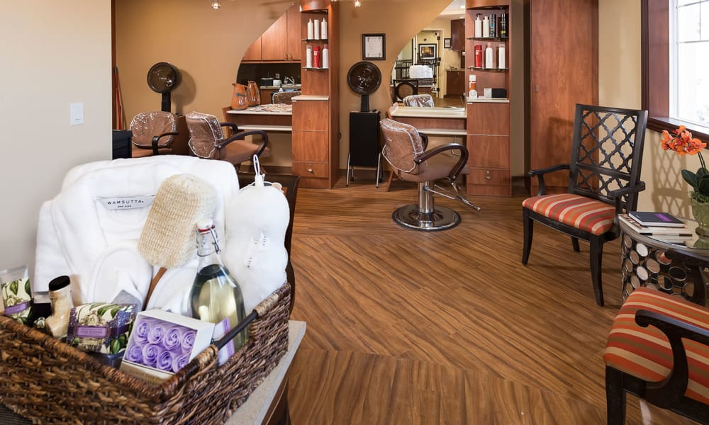 Spa & salon at Estancia Del Sol in Corona, California