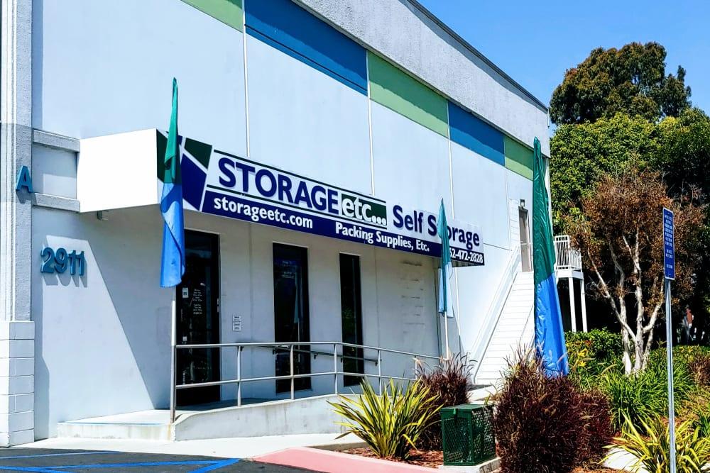 Storage facility entrance at Storage Etc