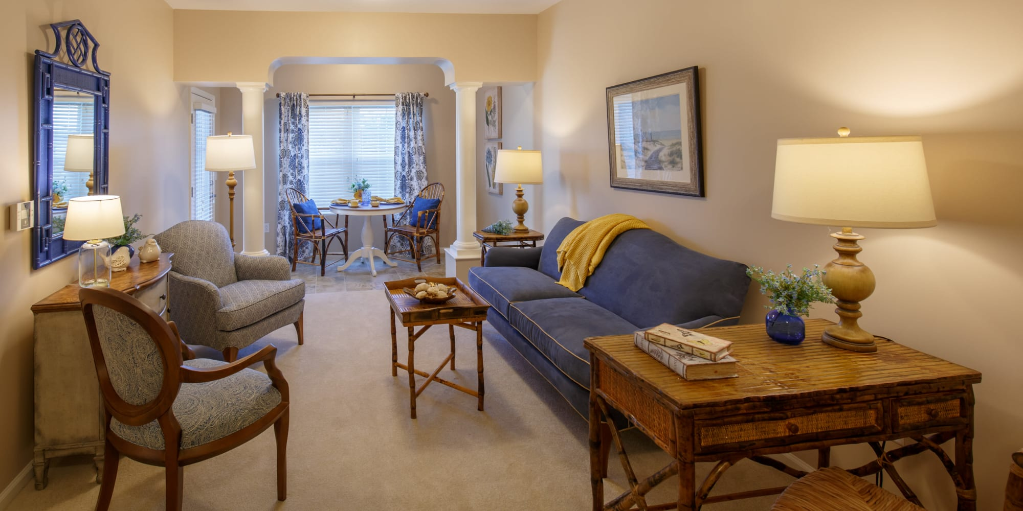 Resident living room at Keystone Place at Terra Bella in Land O' Lakes, Florida.