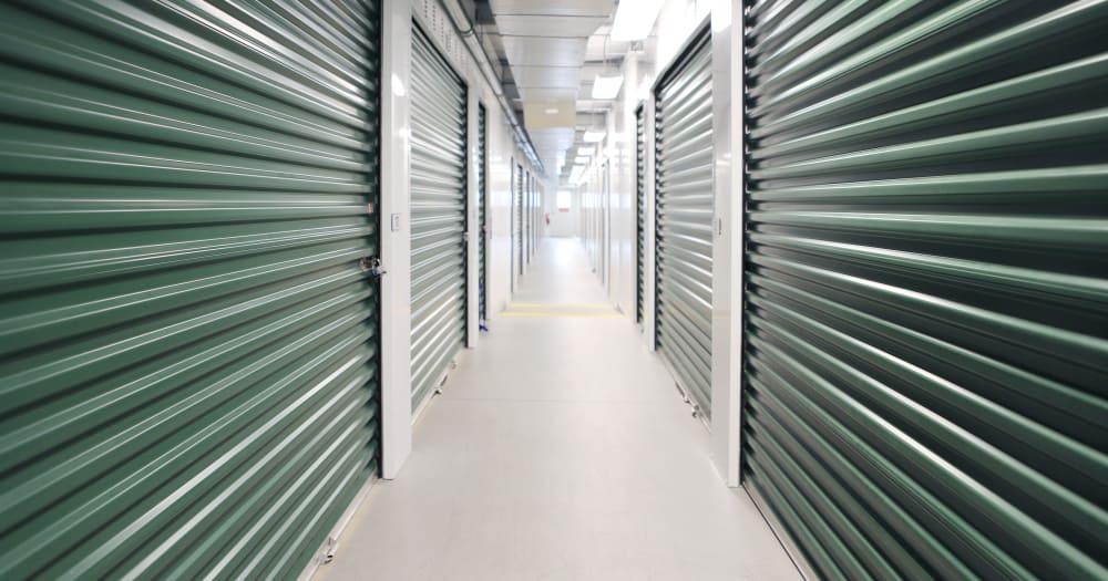 Storage units at Midgard Self Storage in Sheffield, Alabama