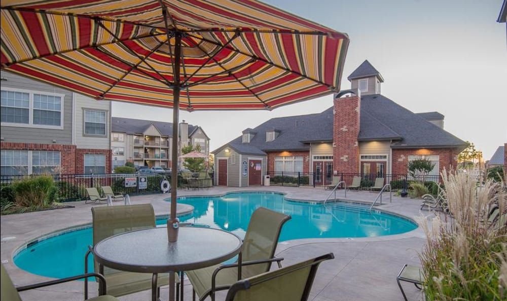 Swimming pool at apartments in Owasso