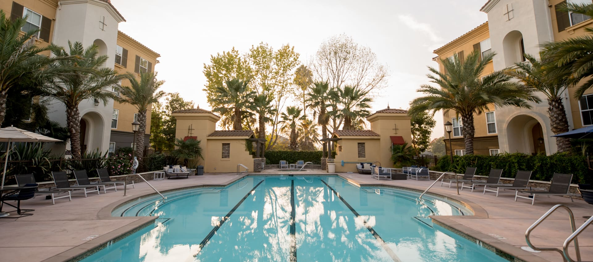 Beautiful swimming pool at Park Central in Concord, California