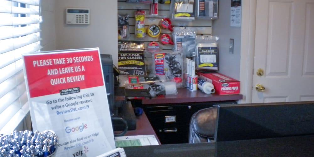 Inside the office at STOR-N-LOCK Self Storage in Salt Lake City, Utah