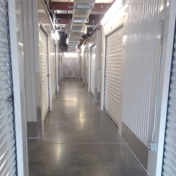Climate-controlled indoor units at StorQuest Self Storage in Sanford, Florida