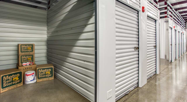 Climate controlled units at Metro Self Storage in Orlando, FL