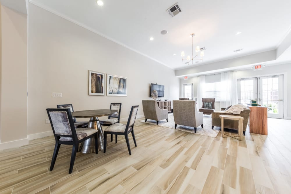 Community clubhouse at Marquis at Cinco Ranch in Katy, Texas