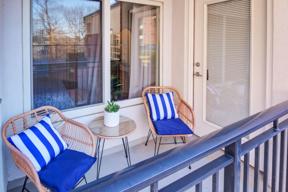 Private Balcony at Apartments in Stamford, Connecticut
