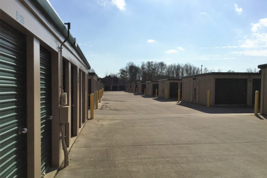Climate Controlled Exterior Storage Units at our self storage facility in Burlington, North Carolina