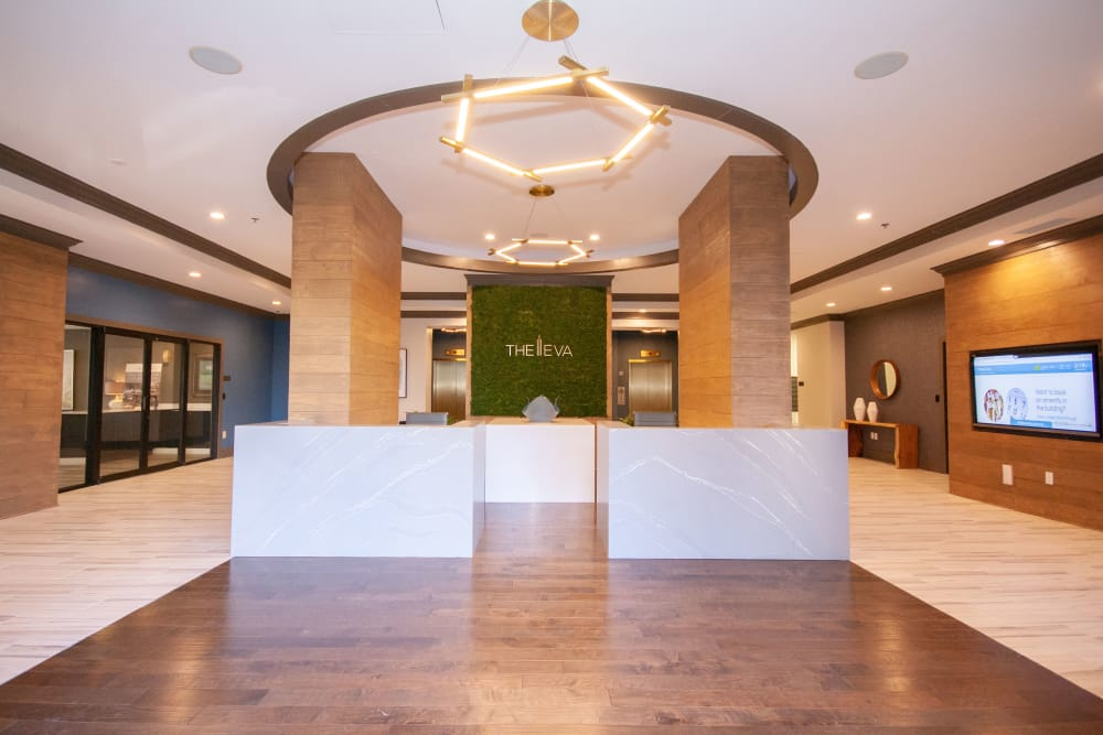Beautiful lobby at The Eva