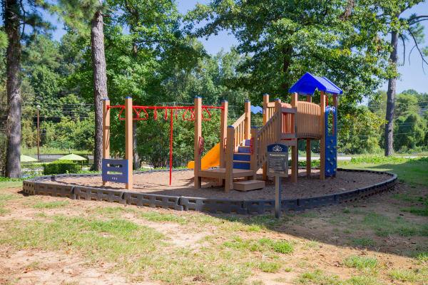 Spacious playground at Avondale Reserve in Avondale Estates, Georgia