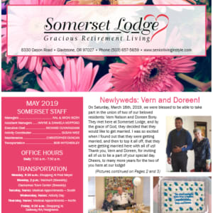 May Somerset Lodge newsletter