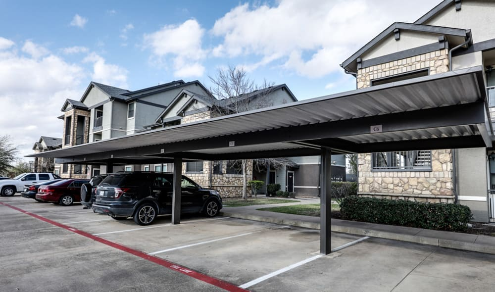 Covered parking at Presidio Apartments in Bryan, TX