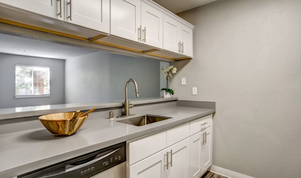 White Kitchen at Serramonte Ridge Apartment Homes