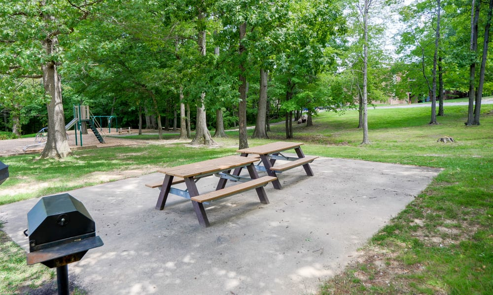 Picnic Tables near Taylor Park Apartment Homes