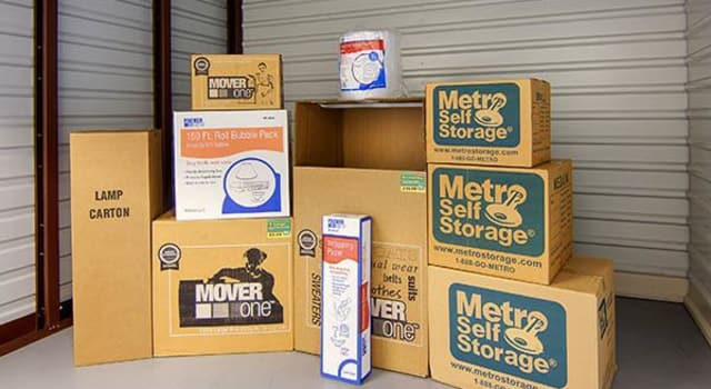 Storage boxes at Metro Self Storage in Naperville, Illinois
