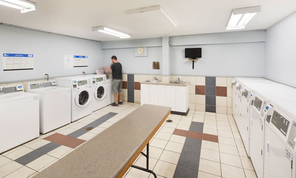 On-site laundry facility at Glenmore Heights in Calgary, AB