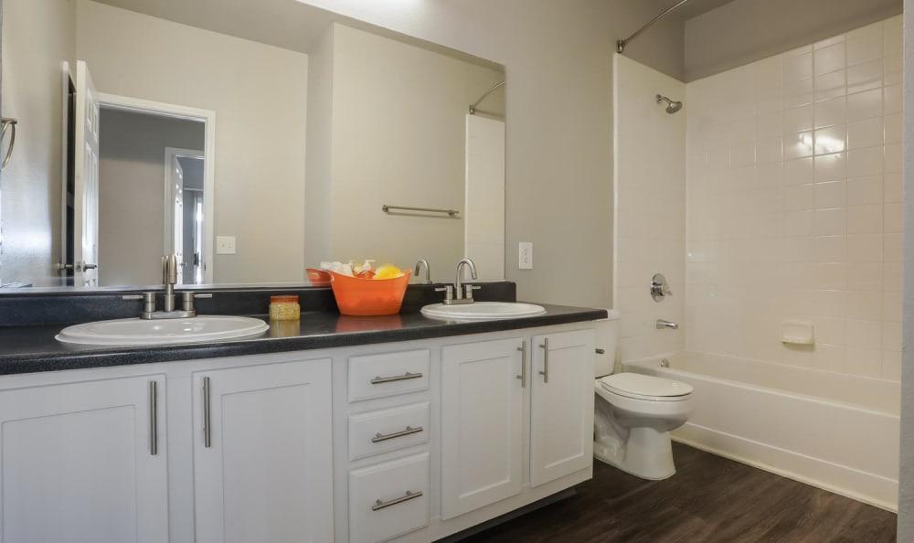 White Renovation Bathroom at Hawthorne Hill Apartments