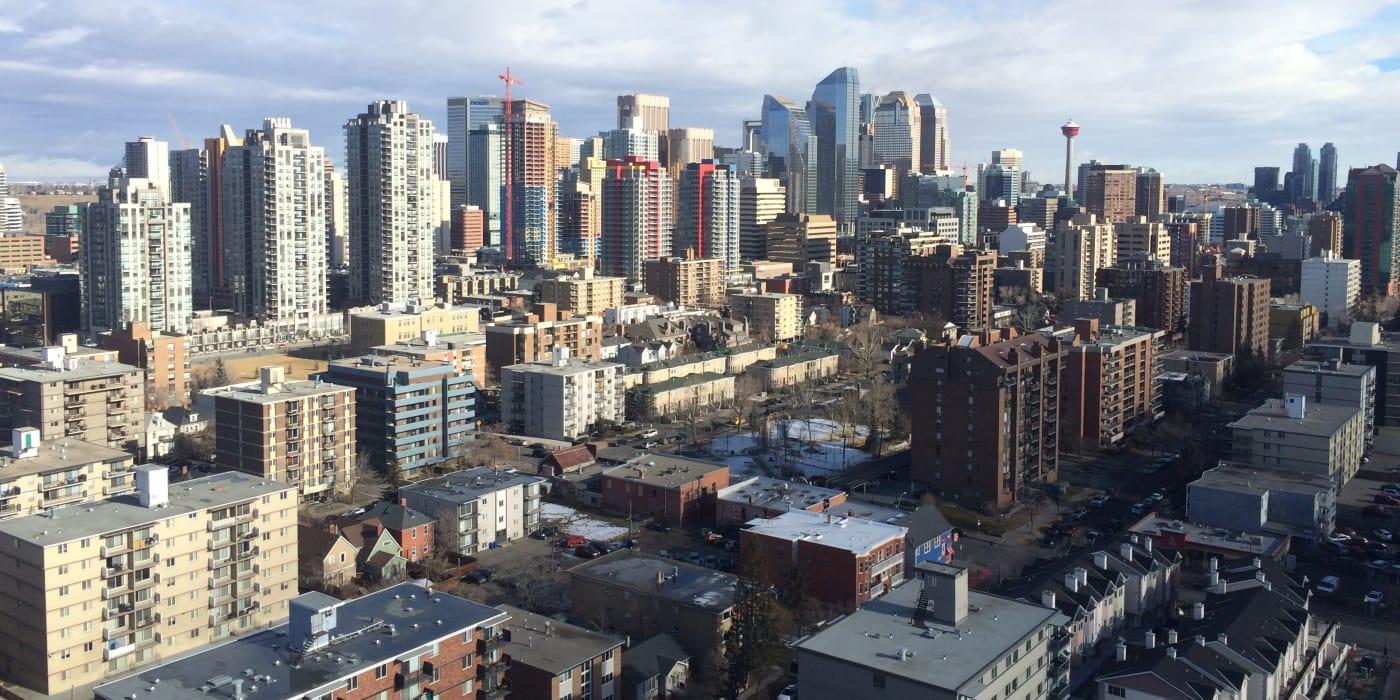 Aerial view of Calgary, AB