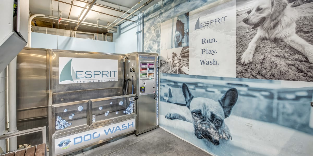 Dog grooming center at Esprit Marina del Rey in Marina del Rey, California