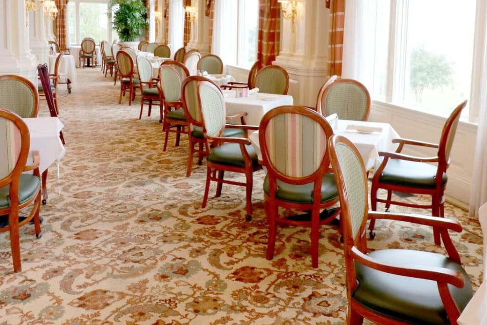 The dining area at The Chamberlin in Hampton, Virginia