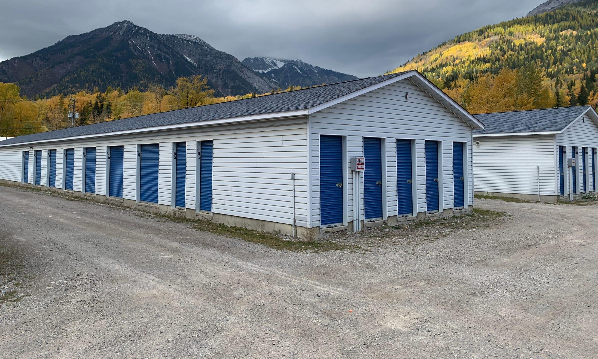 Self storage at CityBox Storage in Fernie, British Columbia