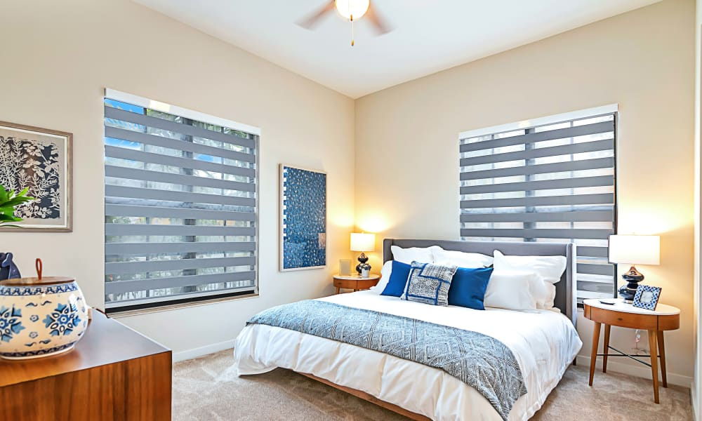 Spacious bedroom with large windows for tons of natural light at 6600 Main in Miami Lakes, Florida