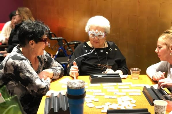 Residents at All Seasons of West Bloomfield in West Bloomfield, MI enjoying a game