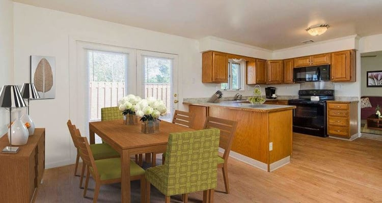 Kitchen at Eagle Meadows Apartments in Dover